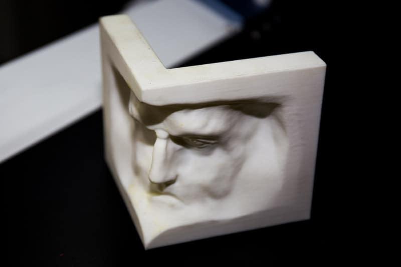 Cara impresa en 3D